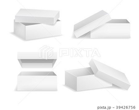 realistic detailed 3d template blank white squareのイラスト素材