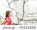 着物 桜 ソメイヨシノの写真 39426888