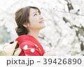 着物 桜 ソメイヨシノの写真 39426890