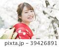 着物 桜 ソメイヨシノの写真 39426891