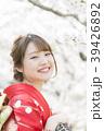 着物 桜 ソメイヨシノの写真 39426892