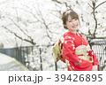着物 桜 ソメイヨシノの写真 39426895