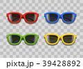 ベクター ガラス製 サングラスのイラスト 39428892