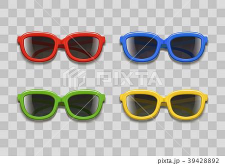 Realistic 3d Color Sunglasses Black Lenses on a 39428892