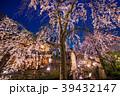 祇園白川 夜桜 桜の写真 39432147