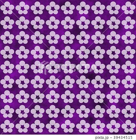 和柄模様 花びら 紫色 39434515