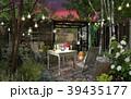 庭 チェア テーブルのイラスト 39435177