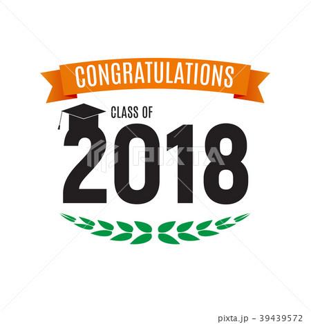 congratulations on graduation 2018 classのイラスト素材 39439572