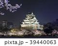 大阪城 夜桜 ライトアップの写真 39440063