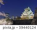 大阪城 夜桜 ライトアップの写真 39440124