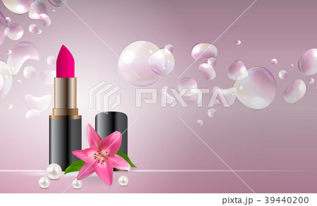 design cosmetics product lipstick template for adsのイラスト素材