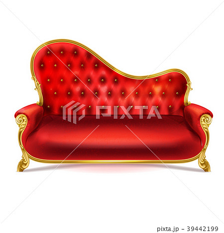Vector Realistic Luxurious Red Leather