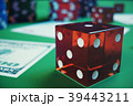 3D illustration playing chips, cards and money for 39443211