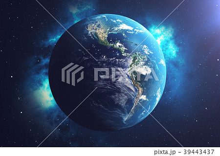 3D Rendering World Globe from Space in a Star 39443437