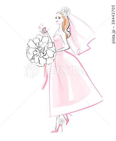 白いブーケの花嫁 39443705