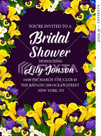 Flowers vector engagement party bridal shower 39446474
