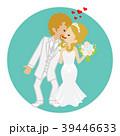 キスする新郎新婦 ブロンド 39446633