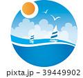 海 ヨット 空のイラスト 39449902