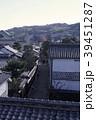 倉敷の街並みと人力車 39451287