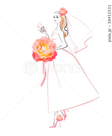 ピンクのブーケの花嫁 39452531
