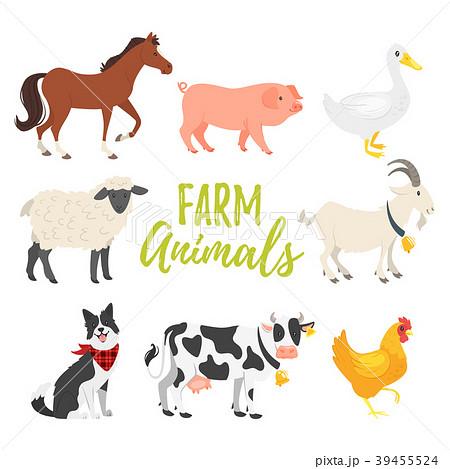 set of farm animals 39455524