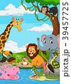 アフリカ大陸 アフリカ産 動物のイラスト 39457725