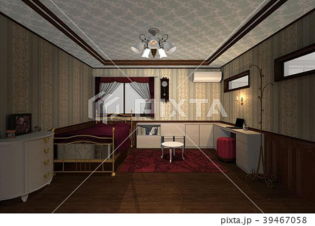 洋風な部屋のイラスト素材