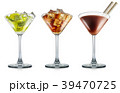 Set of cocktail isolated on white background 39470725