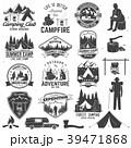 ロゴ キャンプ 収容所のイラスト 39471868