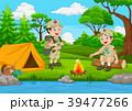 キャンプ 収容所 マンガのイラスト 39477266