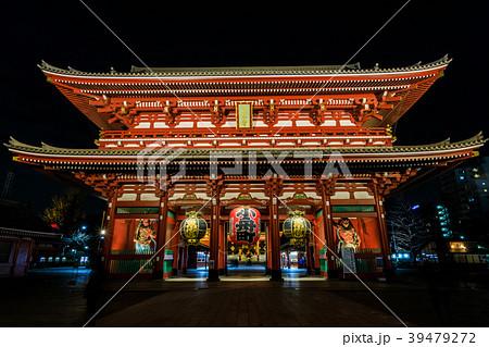 浅草浅草寺 夜の宝蔵門 39479272