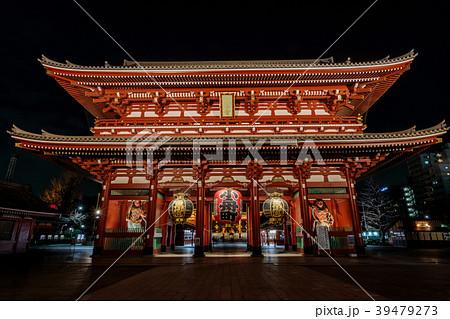 浅草浅草寺 夜の宝蔵門 39479273