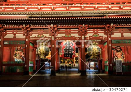 浅草浅草寺 夜の宝蔵門 39479274