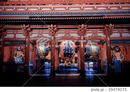 浅草浅草寺 夜の宝蔵門 39479275