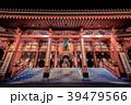 浅草 夜の浅草寺本堂 39479566