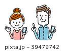 男性と女性:スマートフォン 39479742