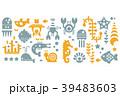 海 パターン 柄のイラスト 39483603
