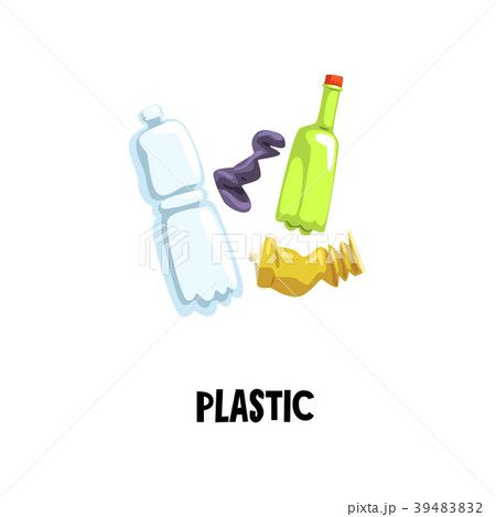 Information icon about plastic waste. Empty tube 39483832