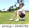 サッカー 女子学生 女子高生のイラスト 39485789