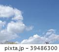 草野水路脇の道路からの青空とと白い雲 39486300