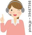 女性 案内 コールセンターのイラスト 39487398