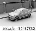 背景用クレイシェーディングの電動SUVのイメージ 39487532