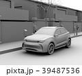 路肩駐車中の電動SUVが急速充電しているクレイレンダリングイメージ 39487536