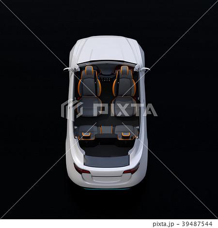 電動SUVのカットモデル。前列シートが後方に回転され、対面状態にセットしているイメージ 39487544