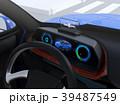 電気自動車 自動運転 ダッシュボードのイラスト 39487549