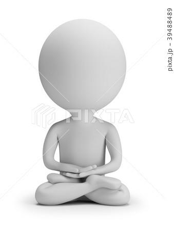 3d small people - meditation 39488489
