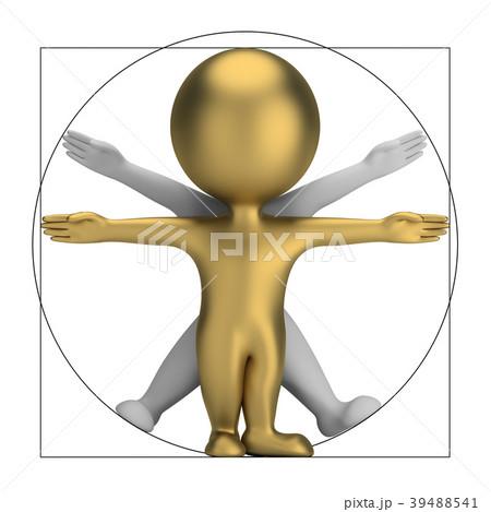 3d small people - vitruvian man 39488541