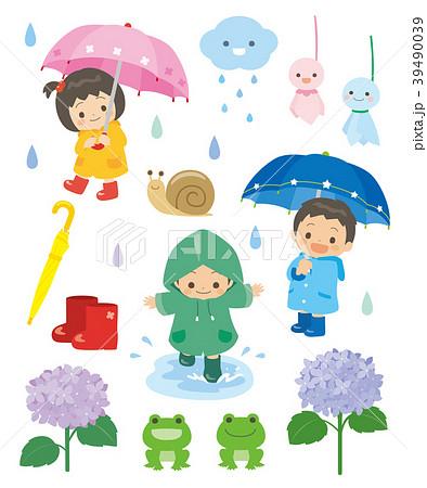 梅雨のイラスト素材 39490039 Pixta
