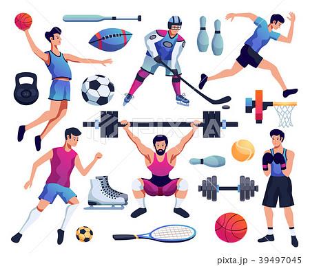 people involved in sport setのイラスト素材 39497045 pixta
