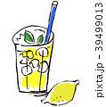 レモネード ジュース 白バックのイラスト 39499013